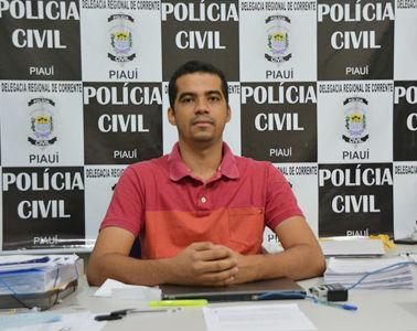 Delegado da 10ª Delegacia Regional de Corrente, Danilo Barroso (Crédito: Portalcorrente)