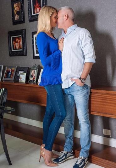 Ana Hickmann com o marido