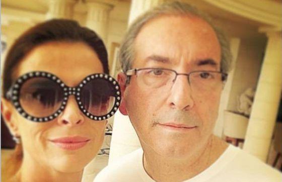 Cláudia Cruz ao lado do marido, o deputado Eduardo Cunha