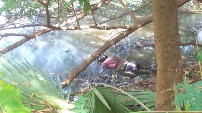 Corpo encontrado em rio (Crédito: Reprodução)