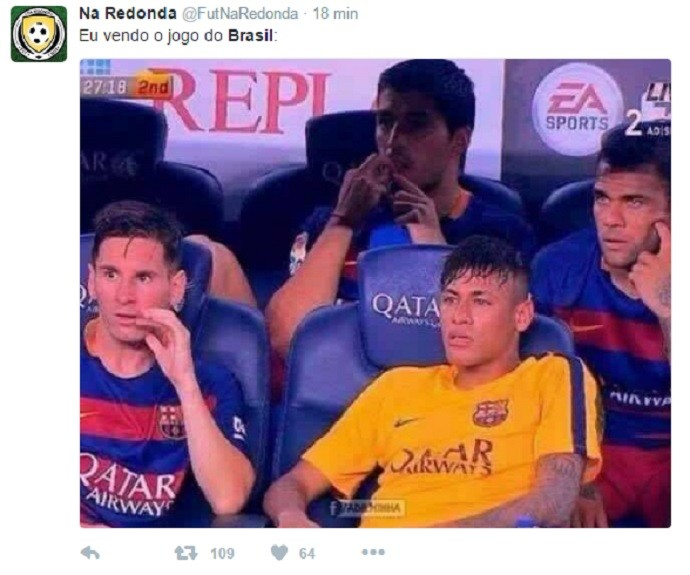 Memes repercutem derrota do Brasil (Crédito: Reprodução)