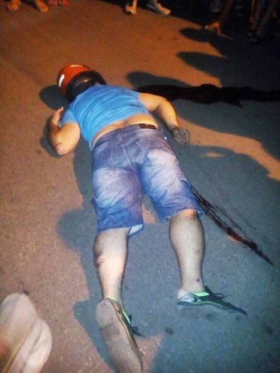 Homem morreu no local do crime (Crédito: Reprodução)