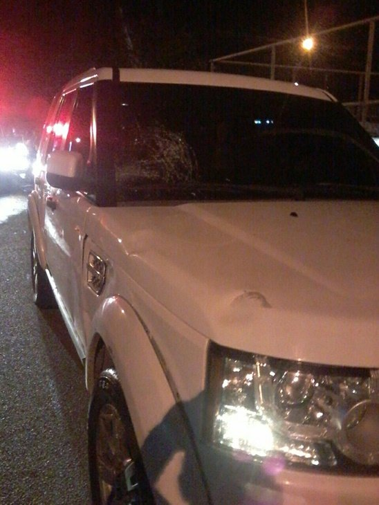 Acidente envolveu veículo (Crédito: Reprodução)