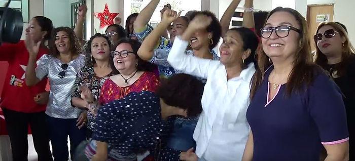 Mulheres do PT se reuniram nesta segunda-feira  (Crédito: Reprodução)