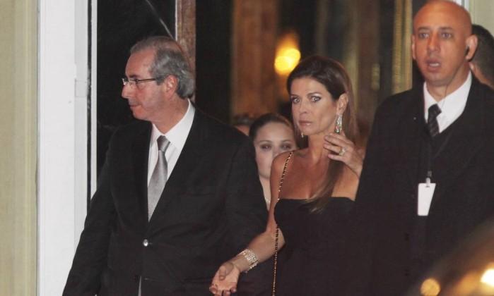 Eduardo Cunha e a esposa (Crédito: Reprodução)