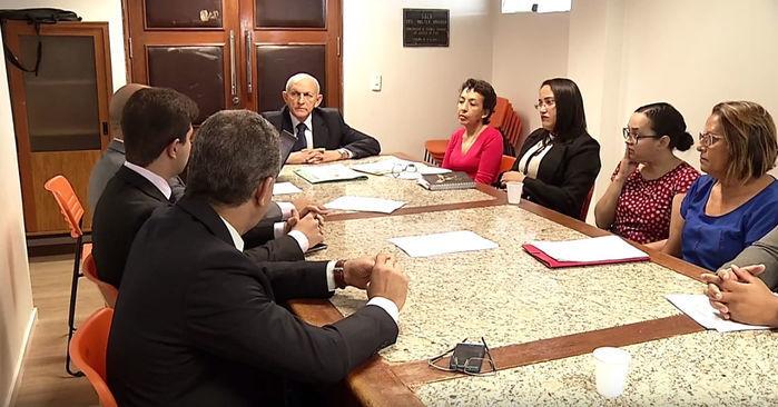 Reunião aconteceu no Tribunal de Justiça (Crédito: Reprodução)