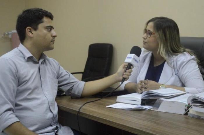 Repóter do portal de olho entrevista Josefa Miranda
