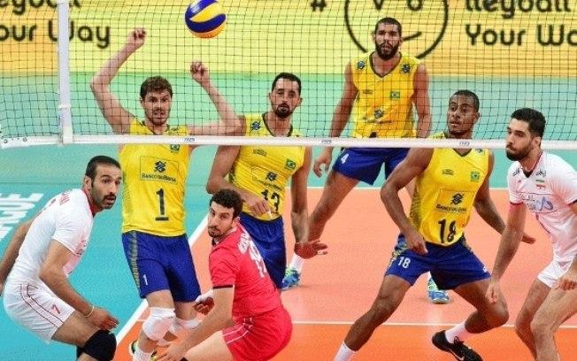 Brasil vence o Irã pela Liga Mundial