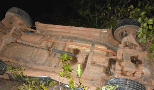 Hilux envolvida no acidente na BR-230 (Crédito: Nazarenet)
