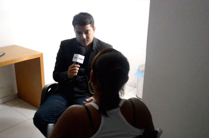 Vítima concede entrevista sobre o caso (Crédito: Reprodução)