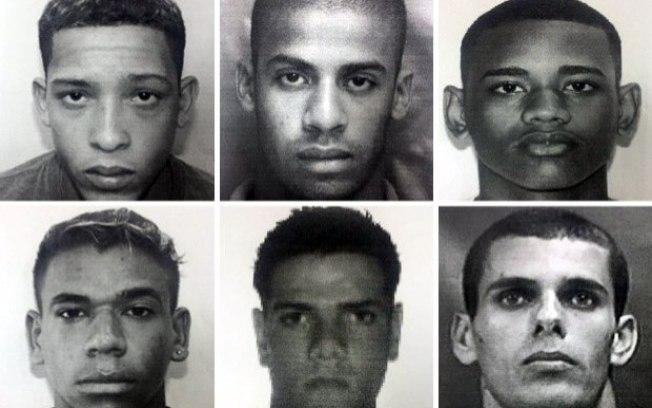 Seis primeiros criminosos identificados pela polícia por participar de estupro coletivo no Rio