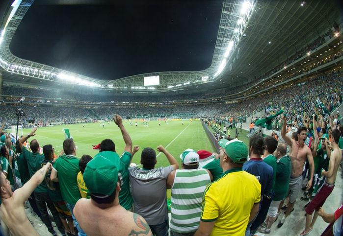 Estádio do Palmeiras lotou no jogo deste Sábado