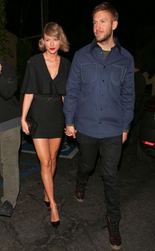 Taylor Swift e Calvin Harris juntos (Crédito: Reprodução)