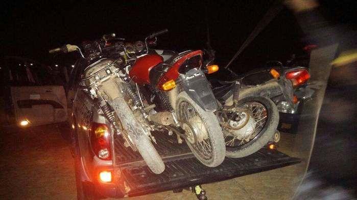 Motos recuperadas (Crédito: Reprodução)