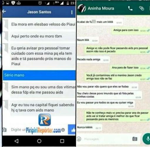 Boato de que Aninha estava espalhando HIV propositalmente para outros homens se espalhou pelo WhatsApp