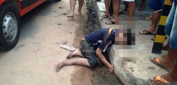 Vítima chegou a ser socorrida com vida, mas não resistiu (Crédito: Blog do Pessoa)
