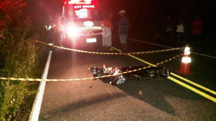 Homem morre após colidir com animal em rodovia (Crédito: Portal do Catita)