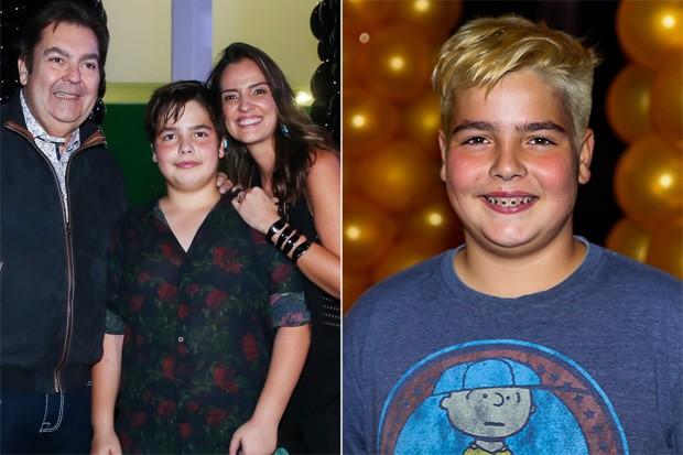 Filho de Faustão chamou atenção com cabelo loiro  (Crédito: Brasil News)