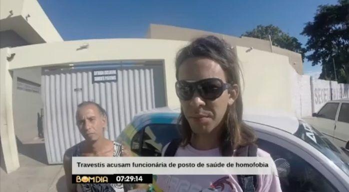 Travestis na Central de Flagrantes (Crédito: Reprodução/TV Meio Norte)