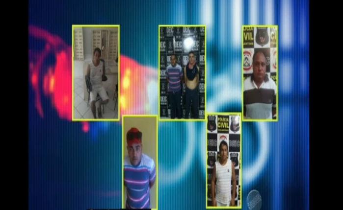 Presos acusados de integrar quadrilha que furtava