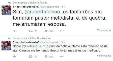 Twitter, Fábio de Melo (Crédito: Reprodução)