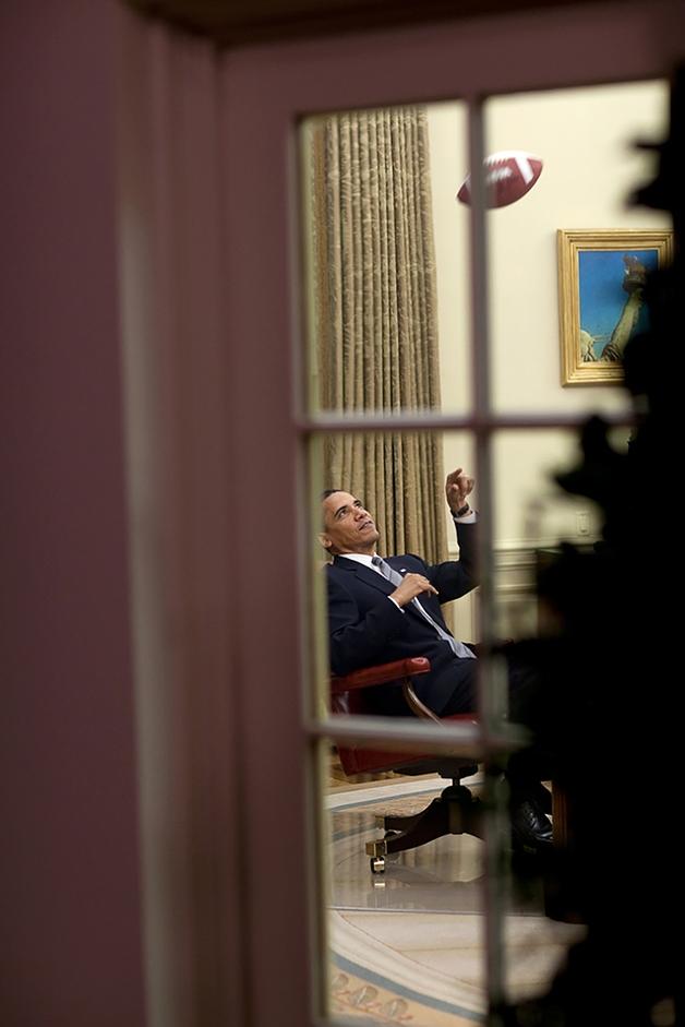 Fotos que retratam o dia a dia de Obama (Crédito: Reprodução)
