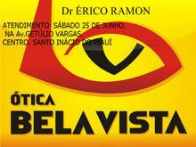 Ótica Bela Vista terá atendimento sábado 25 de junho em Santo Ináci