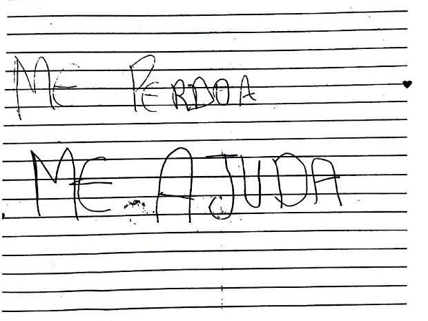 Menina pede ajuda em carta para a mãe (Crédito: Reprodução)