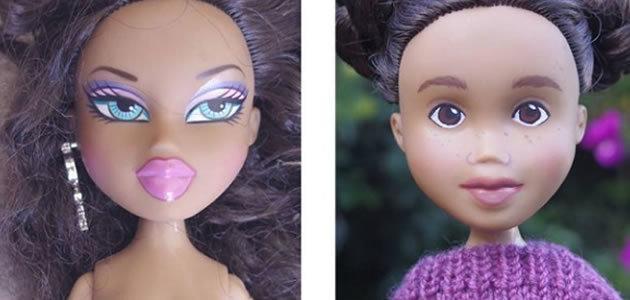 Bonecas são transformadas e ficam com aparência de infantil