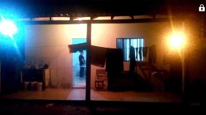 Casa onde ocorreu o crime (Crédito: Reprodução)