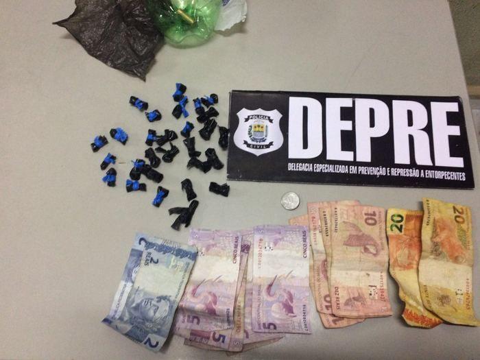 Depre prende acusada de tráfico de drogas na zona norte de THE (Crédito: Reprodução)