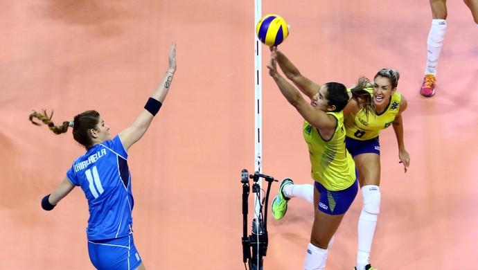 Jogo foi acirrado mas Brasil saiu com vitória (Crédito: Reprodução)