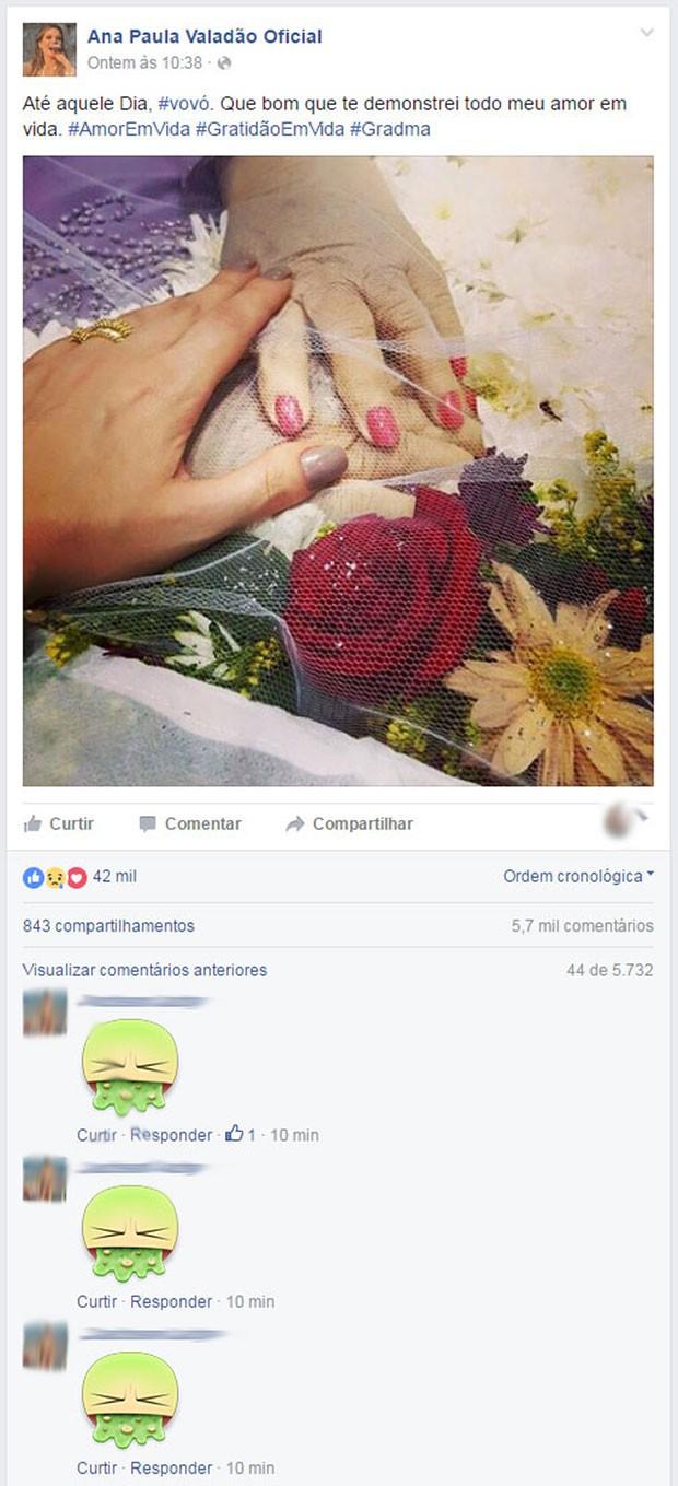 Cantora foi atacada nas redes sociais (Crédito: Reprodução)