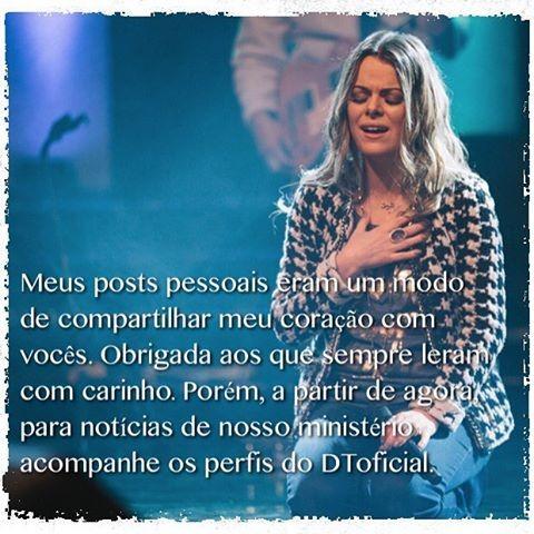 Ana Paula Valadão anuncia saída das redes sociais (Crédito: Reprodução)