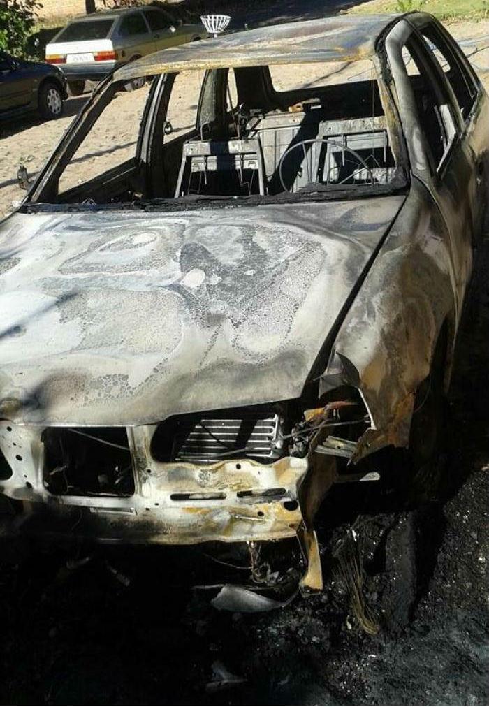 Veículo do vereador que foi incendiado (Crédito:  Portal B1)