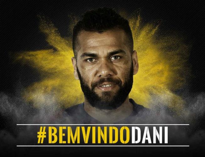 """A mensagem da Juventus para Daniel Alves: """"Bem vindo"""", em português (Crédito: Reprodução)"""