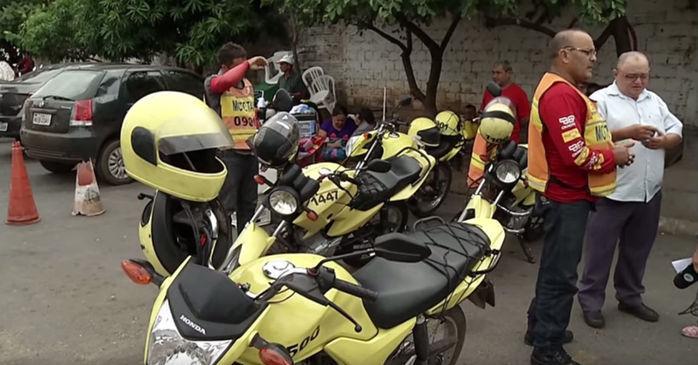 Assaltos feitos por mototaxistas clandestinos são comuns em Teresina (Crédito: Reprodução)