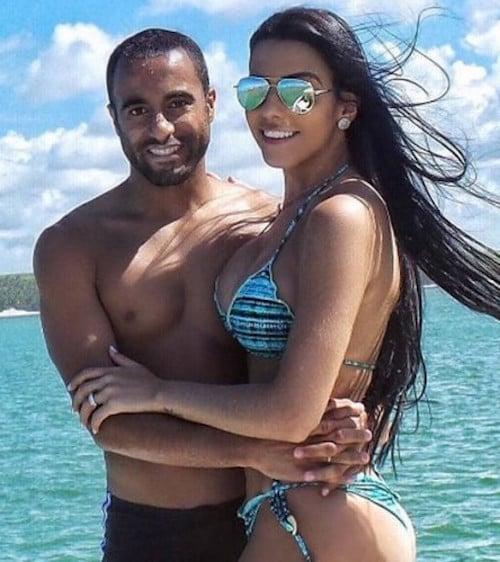 De Férias No Brasil, Lucas Moura Se Declara Para A Namorada