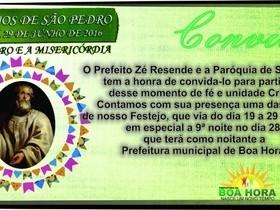 Boa Hora celebra a festa de São Pedro, padroeiro do município