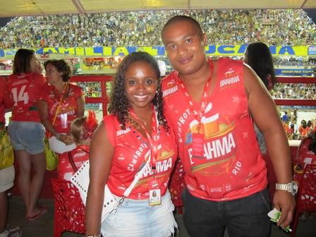 Daiane dos Santos e ex-namorado (Crédito: Reprodução)