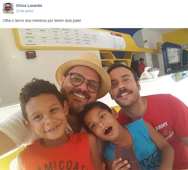 Imagens de crianças com pais LGBT (Crédito: Reprodução)