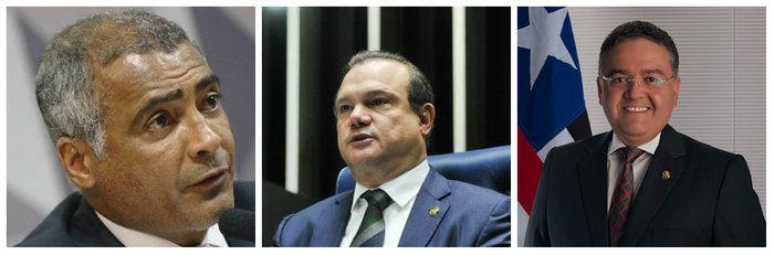 Senadores Romário, Wellington Fagundes e Roberto Rocha