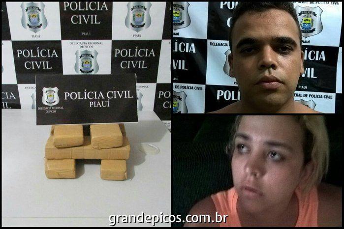 Irmãos presos em Picos (Crédito: Reprodução)