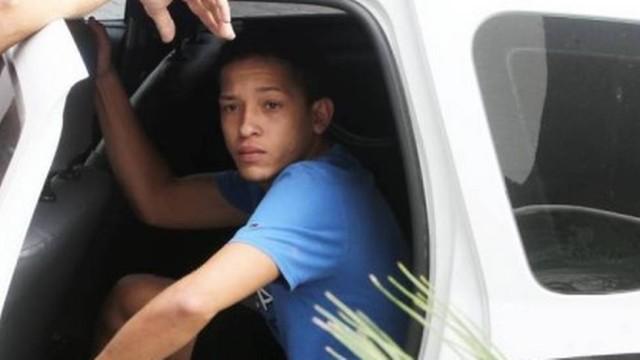 Lucas Perdomo sendo preso (Crédito: Reprodução)