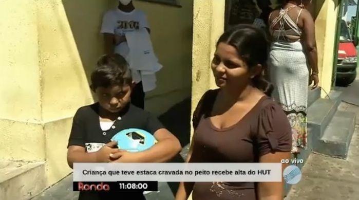 Garoto recebe alta após internação (Crédito: Reprodução)