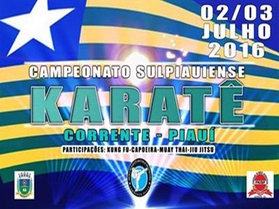 Campeonato Sul piauiense de Karatê será realizado em Corrente