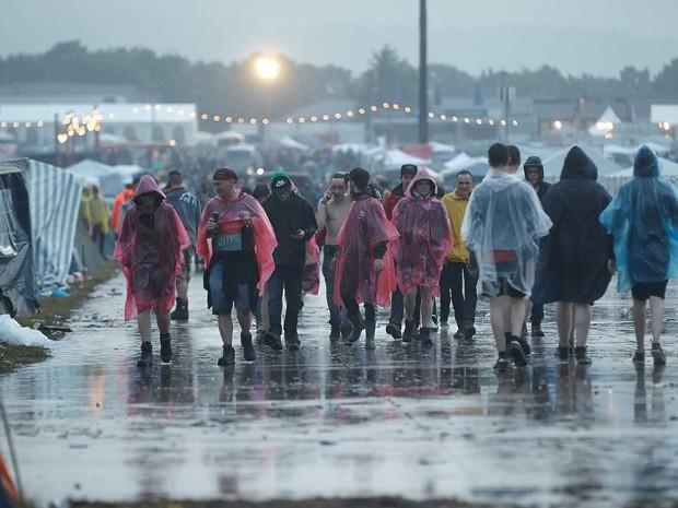 Fãs de rock passaram por susto em festival