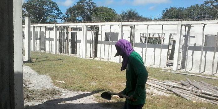 Construção de Escola é retomada no município de Boa Hora