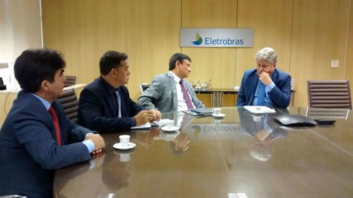 Reunião na sede da Eletrobras no Rio de Janeiro (Crédito: Pablo Cavalcante)