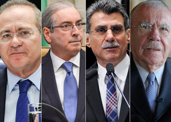 Renan, Cunha, Jucá e Sarney  (Crédito: Divulgação)
